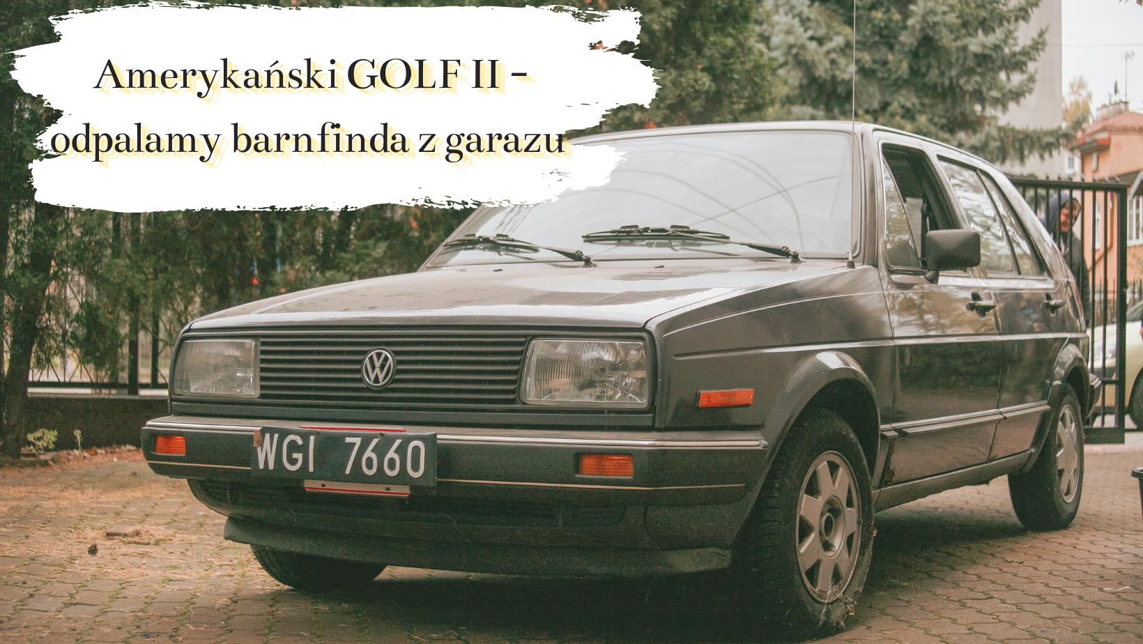 Barn find z garażu – przedliftowy Golf II Rabbit odpalony po kilku latach postoju. Trafił do Polski na początku lat 90.!
